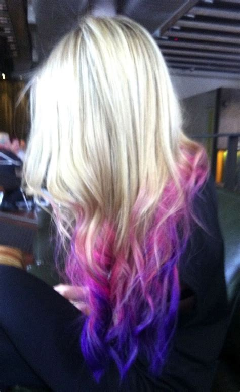 Pictures Of Dyed Hair Tips Blue Dip Dye Hair Projects