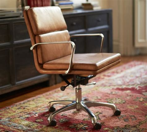 leather swivel desk chair nash leather swivel desk chair pottery barn