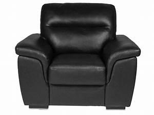 Fauteuil Cuir Noir : fauteuil en cuir giovanni coloris noir vente de tous les ~ Melissatoandfro.com Idées de Décoration