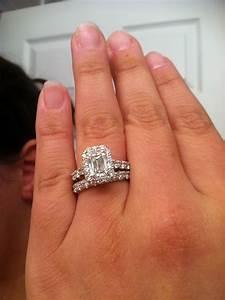 Carat Princess Cut Diamond Ring On Hand Hd Pics For Carat