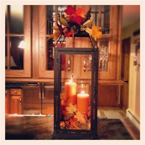 Decorating Ideas With Lanterns by Fall Table Decorations With Lanterns Fall Decor Ideas