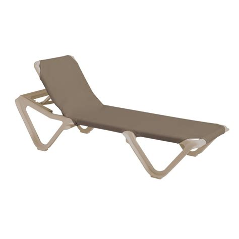 Grosfillex Resin Lounge Chairs by Grosfillex Nautical Adjustable Resin Sling Chaise Lounge