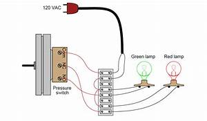 Draw Wiring Of A Pressure Switch To Control Two Lamps