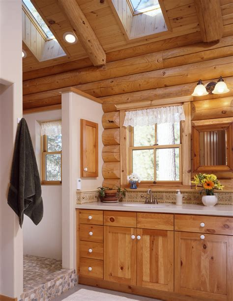 rustic bathroom ideas log home bathrooms real log style