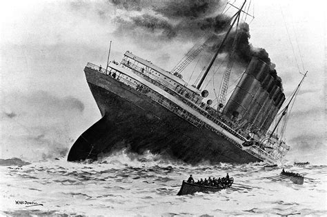 where did the rms lusitania sink image gallery lusitania sinking