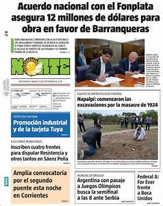 Peri U00f3dico Diario Norte  Argentina   Peri U00f3dicos De Argentina  Edici U00f3n De Martes  10 De Septiembre