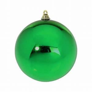 Boule De Noel Verte : boule de no l vert brillant de 20 cm ~ Teatrodelosmanantiales.com Idées de Décoration