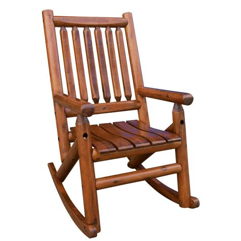 leigh country amberlog patio rocking chair tx 36000 the home depot