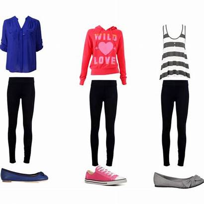 Outfits Leggings Outfit Polyvore Casual Middle Forever