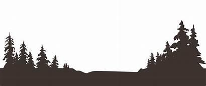 Mountain Silhouette Tree Clipart Clip Skyline Berghotel