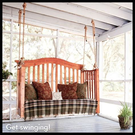 diy porch swing   crib easy upcycling