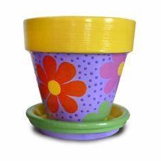 Painted Pots on Pinterest Painted Flower Pots, Flower