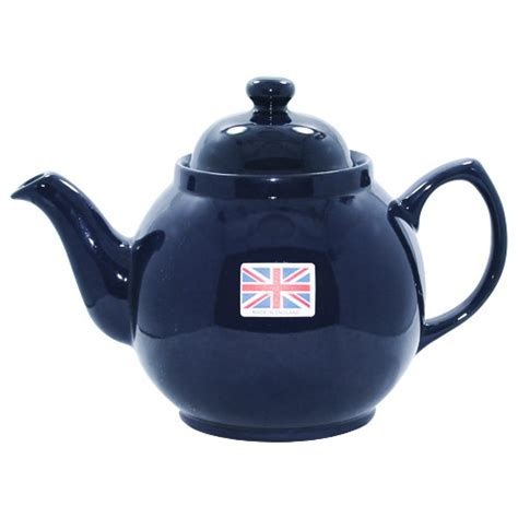 Blue Brown Betty Teapot, 8 Cups   Cobalt Blue