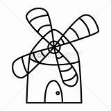 Windmill Line Drawing Vector Clipartmag sketch template