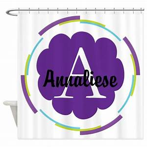 personalized name monogram gift shower curtain by With kitchen colors with white cabinets with monogram stickers for cups
