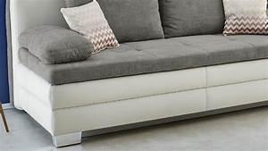 Schlafsofa Für Dauerschläfer : dauerschl fer lincoln schlafsofa sofa in wei grau mit topper ~ Markanthonyermac.com Haus und Dekorationen