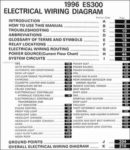1996 Lexus Es 300 Wiring Diagram Manual Original