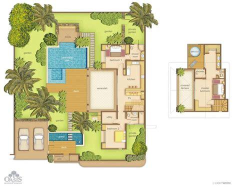 chambre villa villas oasis 1 à 3 chambres ile maurice