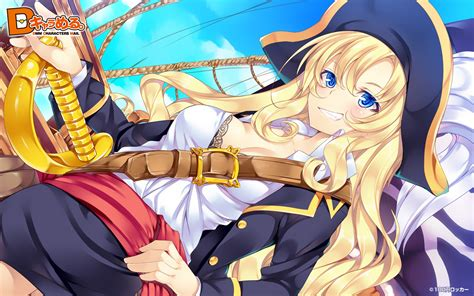 Anime Pirate Wallpaper - cleavage hair bra skies anime mouretsu