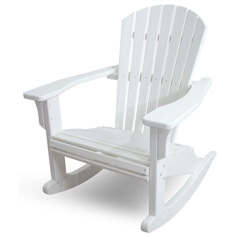 Polywood Seashell Adirondack Rocking Chair by Polywood Adirondack Rocking Chairs Ideas Home Interior