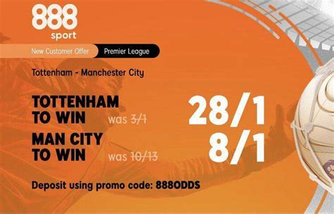 888Sport: 28/1 Tottenham vs 8/1 Manchester City to win ...