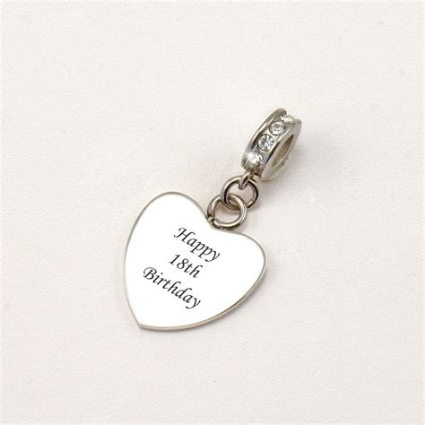 happy  birthday bracelet charm charming engraving