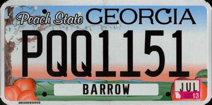 vanity plates ga whither the sticker state could peel license plate decals