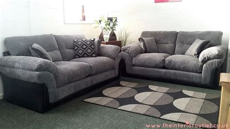 Sofas And Settees For Sale by Dfs Langley Grey Chunky Cord Sofa 3 Beautiful Bargain