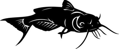 cakes silhouette fish images  pinterest