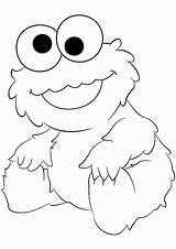 Coloring Cookie Monster Pages Cool sketch template