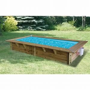Piscine Bois Ubbink : piscine bois azura ubbink 200x350cm h 71cm liner bleu ~ Mglfilm.com Idées de Décoration