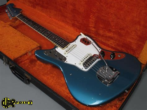 Blue Fender Jaguar by 1966 Fender Jaguar Lake Placid Blue Vi66fejaglpb 137750