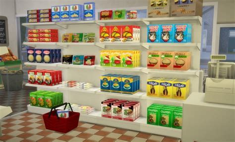 Food store pasta boxes recoulors at Budgie2budgie » Sims 4