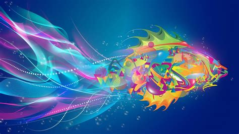 Hd Abstract Picture by 1920x1080 Abstract Fish Colorful Desktop Pc And Mac Wallpaper