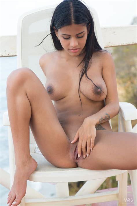 latina Swimsuit Model Denisse Gomez Masturbates Horny Pussy Beside The Ocean
