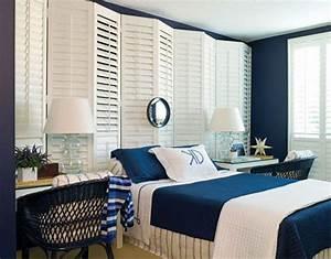 Decoration Chambre Style Marin : 12 id es pour une d coration de chambre en bleu marine ~ Zukunftsfamilie.com Idées de Décoration