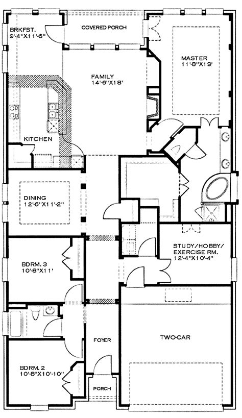 house plan for narrow lot one narrow lot country cottage hwbdo cottage