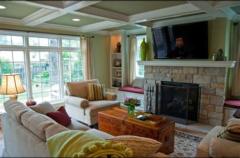family room addition   fireplace   floor space