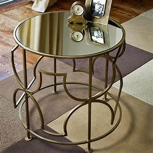 mykonos mirrored side table look 4 less With mirrored coffee table and end tables