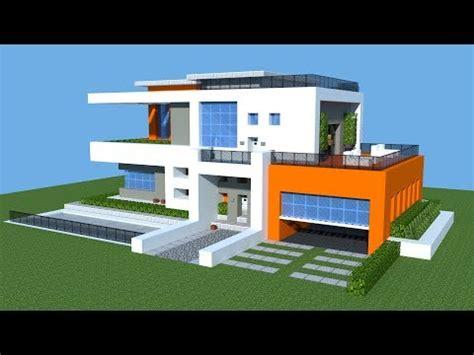 minecraft   build  modern house tutorial big mansion house vanilla