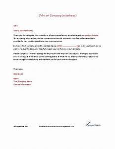 client complaint response letter template letter With replying to a complaint letter template