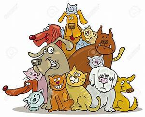 Clipart dogs and cats together
