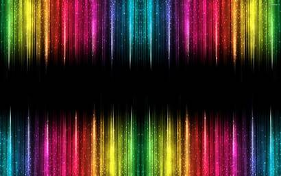Colorful Abstract Bright Stripes Darkness Lights Desktop
