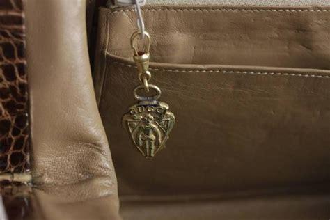 gucci vintage brown crocodile leather shoulder bag  chain straps  sale  stdibs