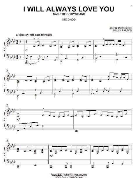 Always You Testo I Will Always You Sheet Dolly Parton Piano Duet