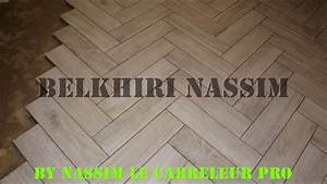 pose carrelage imitation parquet bois youtube With carrelage imitation parquet 15x90