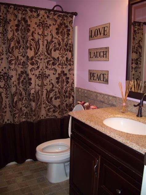 pink and brown bathroom ideas 1000 ideas about brown shower curtains on