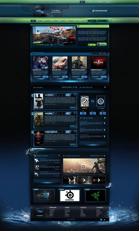 Trintycore Template by Steam Gaming Template Sold By Boriswick On Deviantart