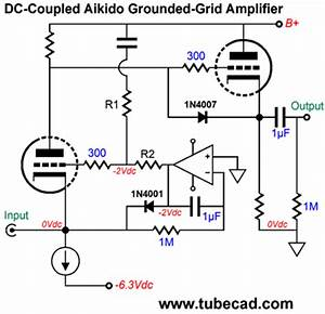 real grounded grid aplifier With constant current power amplifier