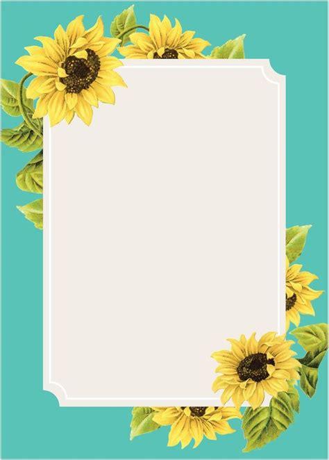 sunflower frame wedding invitations   wedding
